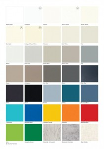 Melteca Colour Chart